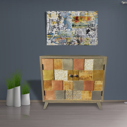Picasso Mango Wood Cabinet - La Place USA Furniture Outlet