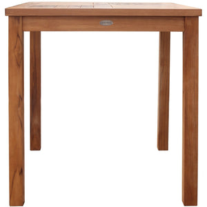 Teak Wood Florence Outdoor Patio Bistro Table, 27 Inch - La Place USA Furniture Outlet