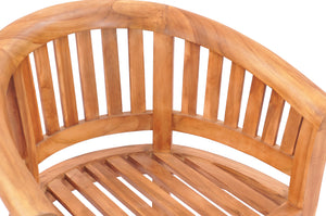 Teak Wood Peanut Chair - La Place USA Furniture Outlet