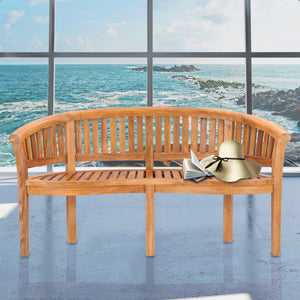 Teak Wood Peanut Double Bench