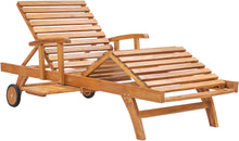 Teak Wood Bahama Pool and Patio Lounger - La Place USA Furniture Outlet