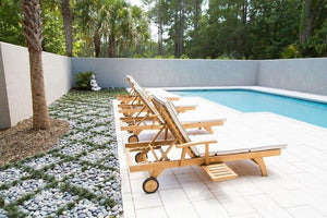 Teak Wood Bahama Pool Lounger - La Place USA Furniture Outlet
