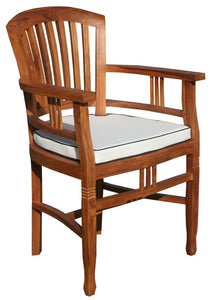 9 Piece Teak Orleans Table/Chair Set With Cushions - La Place USA Furniture Outlet