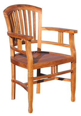 Teak Wood Orleans Arm Chair - La Place USA Furniture Outlet