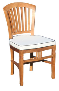 7 Piece Armless Teak Orleans Set With Cushions-Chic Teak
