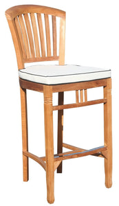 5 Piece Teak Wood Armless Orleans Bar Table/Chair Set With Cushions - La Place USA Furniture Outlet