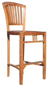 Teak Wood Orleans Barstool w/o Arms - La Place USA Furniture Outlet