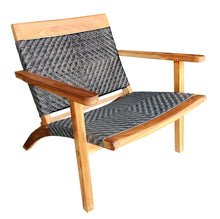 Teak Wood Barcelona Patio Lounge and Dining Chair, Grey - La Place USA Furniture Outlet