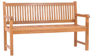 Teak Wood Elzas Double Bench - La Place USA Furniture Outlet