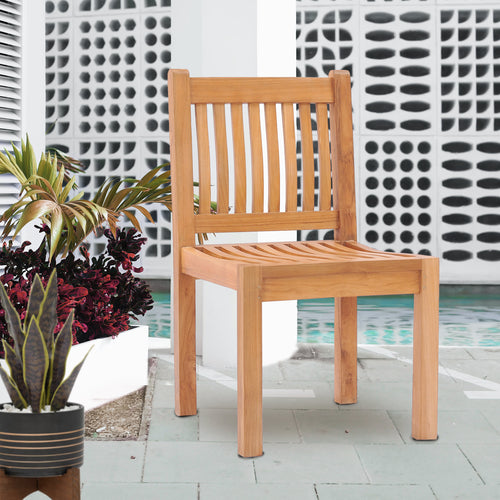 Teak Wood Elzas Side Chair