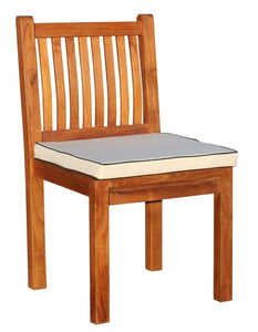 9 Piece Semi Rectangular Teak Wood Elzas Table/Chair Set With Cushions - La Place USA Furniture Outlet