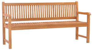 Teak Wood Elzas Triple Bench - La Place USA Furniture Outlet