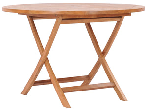 Teak Wood Java Folding Table, 47 inch - La Place USA Furniture Outlet