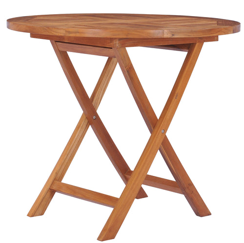 Teak Wood California Folding Table, 36 inch - La Place USA Furniture Outlet