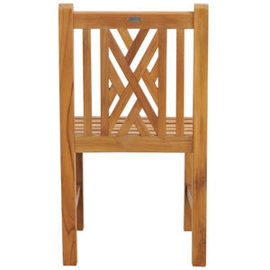 Teak Wood Chippendale Side Chair