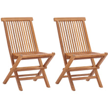 Teak Wood California Folding Side Chair (set of 2)
