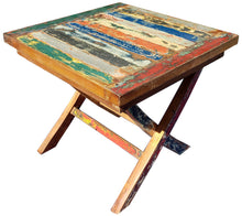 Marina Del Rey Recycled Teak Wood Boat Folding Side Table - La Place USA Furniture Outlet