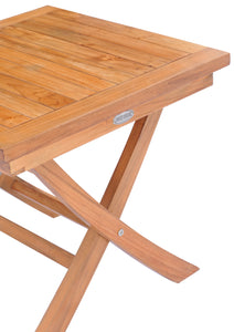 Teak Wood Titanic Folding Side Table - La Place USA Furniture Outlet