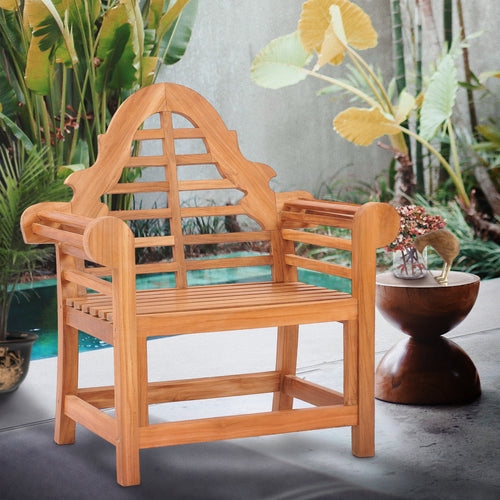 Teak Wood Lutyens Chair