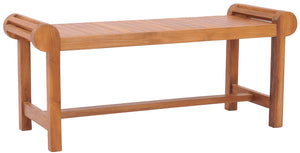 Teak Wood Lutyens Backless Bench - La Place USA Furniture Outlet