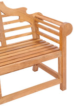 Teak Wood Lutyens Double Bench - La Place USA Furniture Outlet
