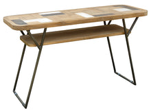 Recycled Teak Wood Brux Art Deco Console / Serving Table - La Place USA Furniture Outlet