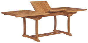 Teak Wood West Palm Semi Oval Extension Table - La Place USA Furniture Outlet