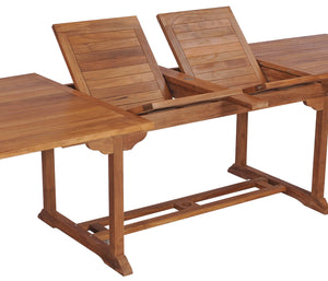 Teak Wood Orleans Oval Double Extension Table - La Place USA Furniture Outlet