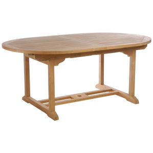 Teak Wood Orleans Oval Extension Table - La Place USA Furniture Outlet