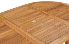 Teak Wood Orleans Round to Oval Extension Table - La Place USA Furniture Outlet
