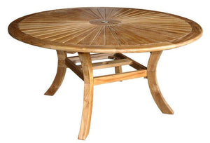 7 Piece Armless Teak Wood Sun Table/Chair Set With Cushions - La Place USA Furniture Outlet
