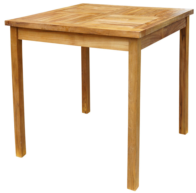 Teak Wood Havana Outdoor Bar Table, 27 Inch - La Place USA Furniture Outlet