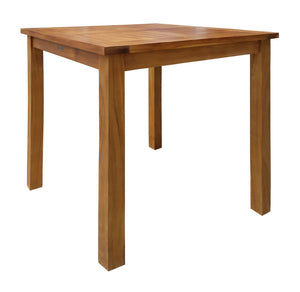 Teak Wood Seville Outdoor Patio Counter Height Bistro Table - 27 inch - La Place USA Furniture Outlet