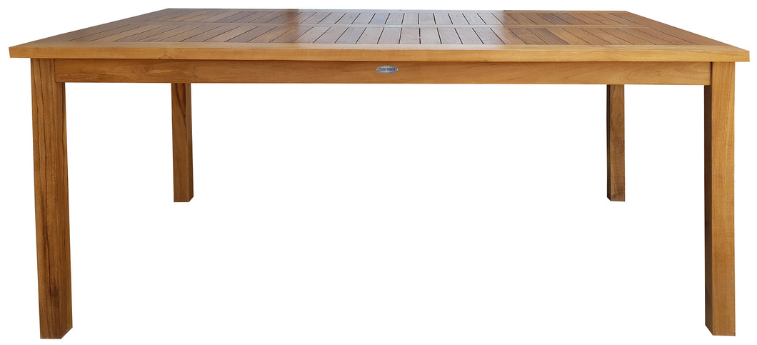 Teak Wood Bermuda Rectangular Patio Bistro Table, Dining Height (55