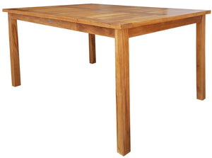 "Teak Bistro Rectangular Patio Dining Table (55"", 63"" and 71"" sizes) - La Place USA Furniture Outlet"
