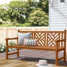 Teak Wood Chippendale Triple Bench - La Place USA Furniture Outlet