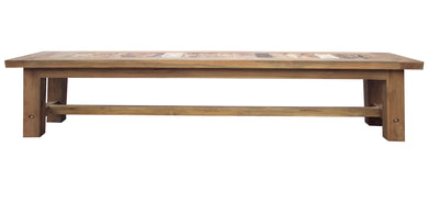 Recycled Teak Wood Backless Bench, 79 Inch - La Place USA Furniture Outlet