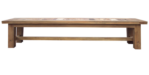 Recycled Teak Wood Tuscany Backless Bench, 79 Inch - La Place USA Furniture Outlet