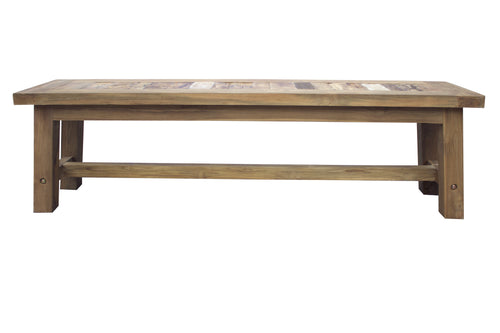 Recycled Teak Wood Tuscany Backless Bench, 63 Inch - La Place USA Furniture Outlet
