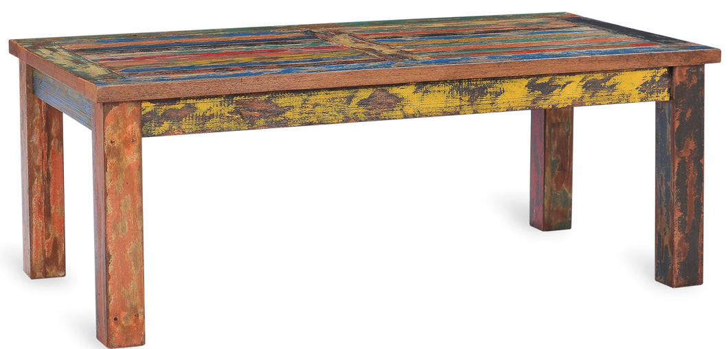 Rectangular Coffee Table made from Recycled Teak Wood Boats - La Place USA Furniture Outlet