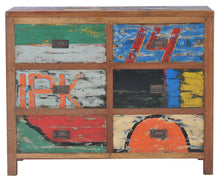 Dresser / Chest with 2 x 3 Drawers made from Recycled Teak Wood Boats - La Place USA Furniture Outlet