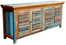 Chest / Media Center with 4 Doors made from Recycled Teak Wood Boats - La Place USA Furniture Outlet