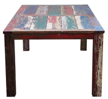 Teak Dining Table Made From Recycled Boats, 55 X 35 Inches - La Place USA Furniture Outlet