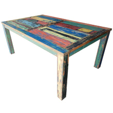 Dining Table Made From Recycled Teak Wood Boats, 55 X 35 Inches