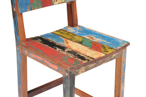 Marina Del Rey Barstool made from Recycled Teak Wood Boats - La Place USA Furniture Outlet