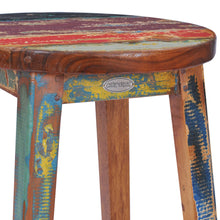 Marina Del Rey Round Recycled Teak Wood Boat Barstool - La Place USA Furniture Outlet