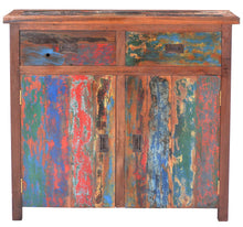 Chest 2 Doors 2 Drawers made from Recycled Teak Wood Boats - La Place USA Furniture Outlet