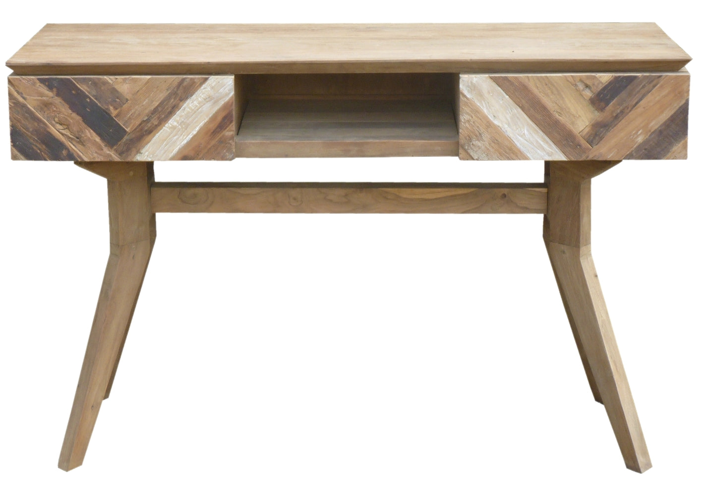 Recycled Teak Wood Brux Art Deco Console Table Tv Stand