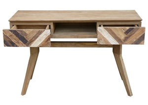 Recycled Teak Wood Brux Art Deco Console Table / TV Stand - La Place USA Furniture Outlet