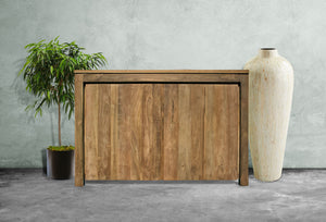 Recycled Teak Wood Solo Buffet 2 Doors - La Place USA Furniture Outlet